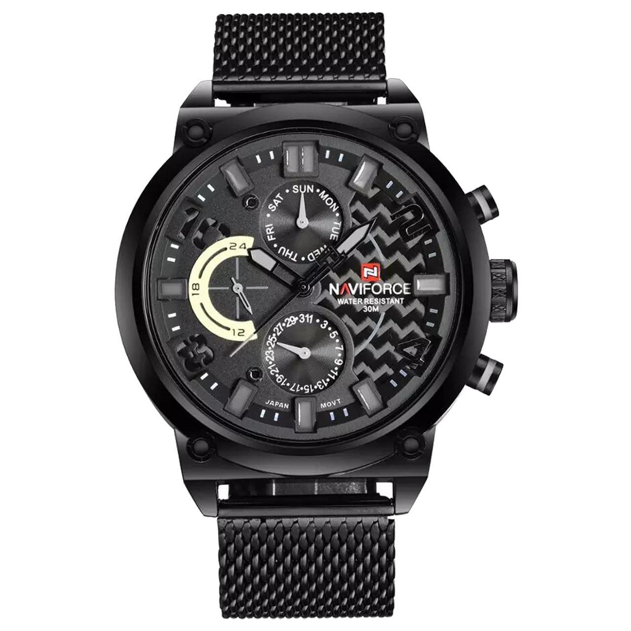 ساعت مچی عقربه ای مردانه نیوی فورس مدل NF9068SM BGYB