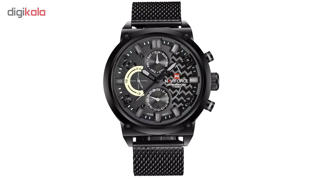 خرید ساعت مچی عقربه ای مردانه نیوی فورس مدل NF9068SM BGYB