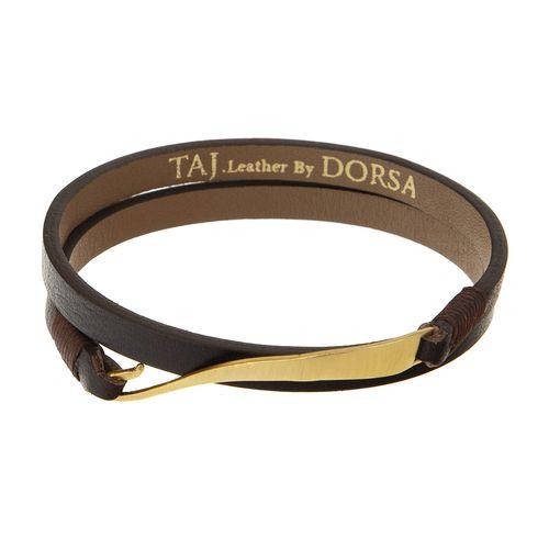 دستبند طلا 18 عیار مردانه تاج درسا مدل 105