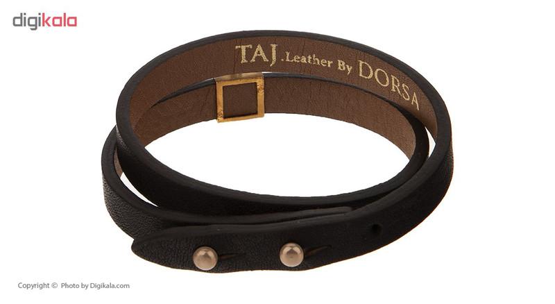 دستبند طلا 18 عیار زنانه تاج درسا مدل 550