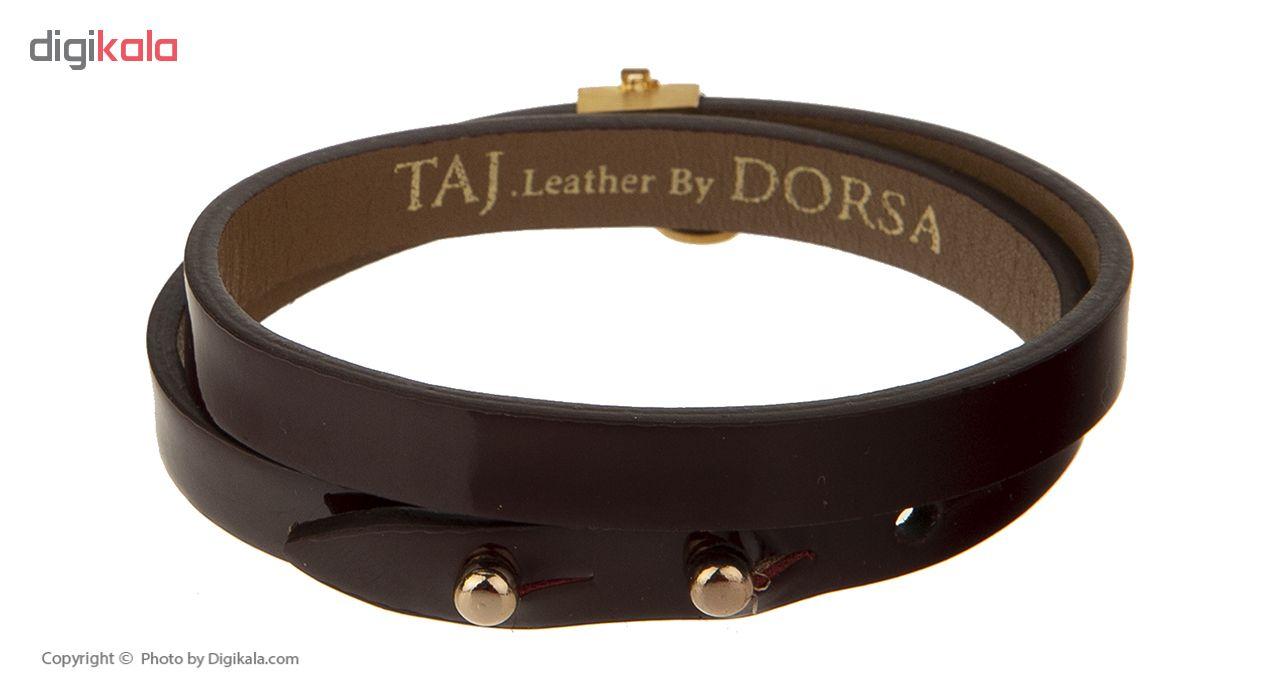 دستبند طلا 18 عیار زنانه تاج درسا مدل 566