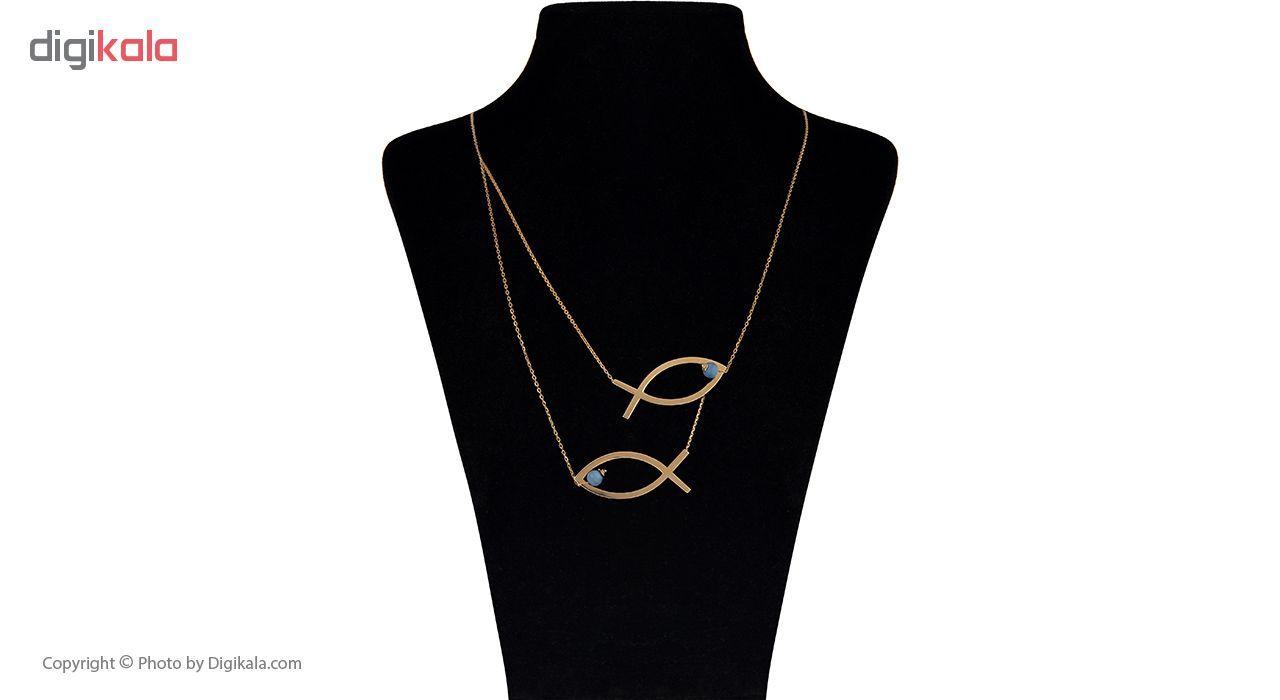 گردنبند طلا 18 عیار زنانه مایا ماهک مدل MM0899 -  - 1