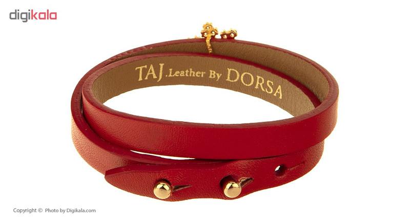 دستبند طلا 18 عیار زنانه تاج درسا مدل 508