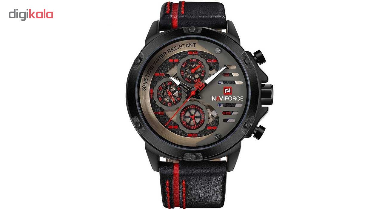 خرید ساعت مچی عقربه ای مردانه نیوی فورس مدل NF9110 BRB