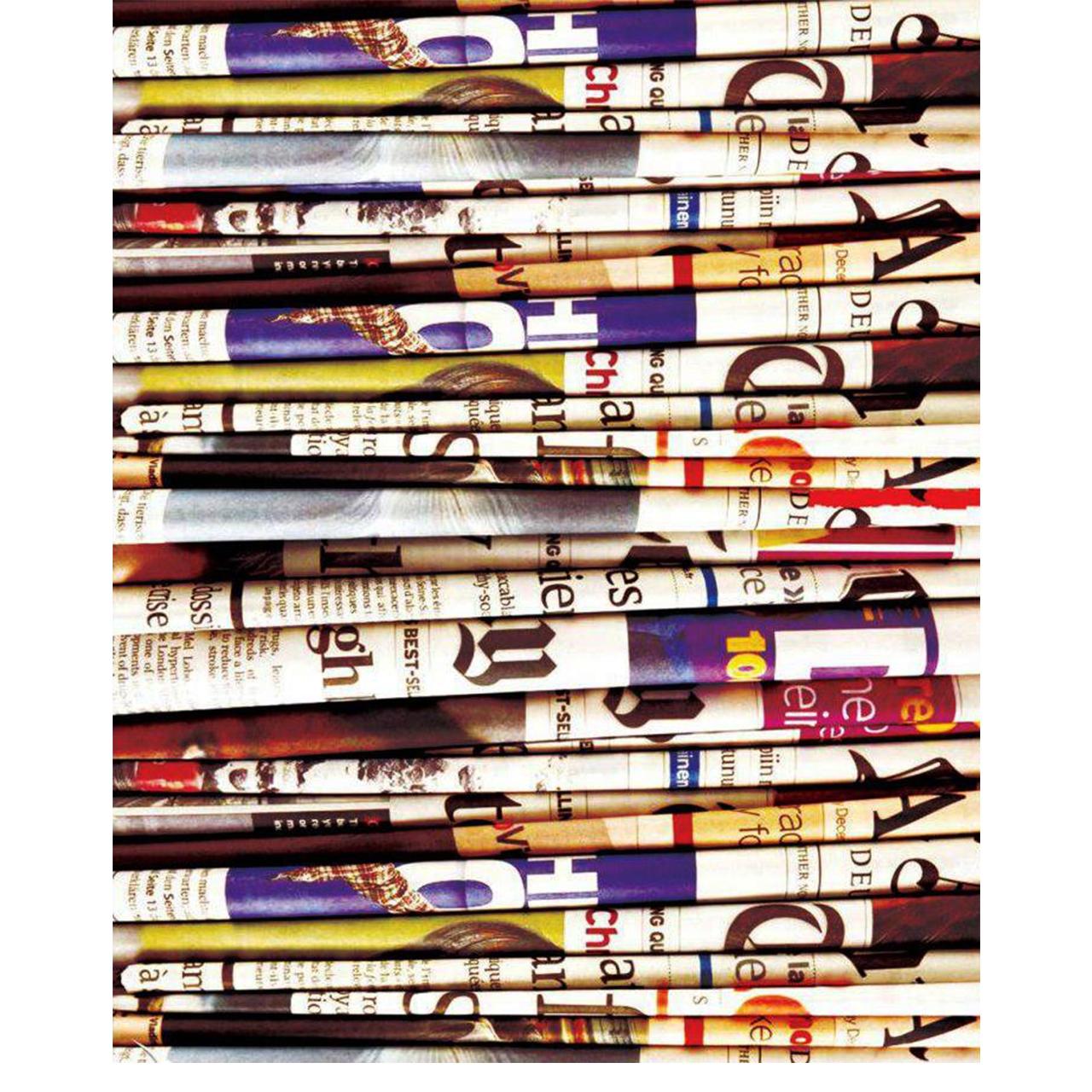 کاغذ کادو طرح روزنامه کد 35 بسته ی 5 عددی