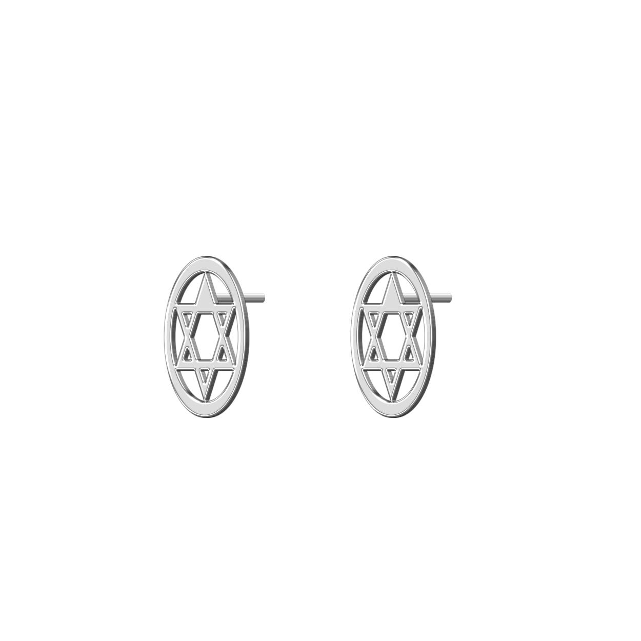گوشواره نقره زنانه ترمه 1 طرح استار کد E527