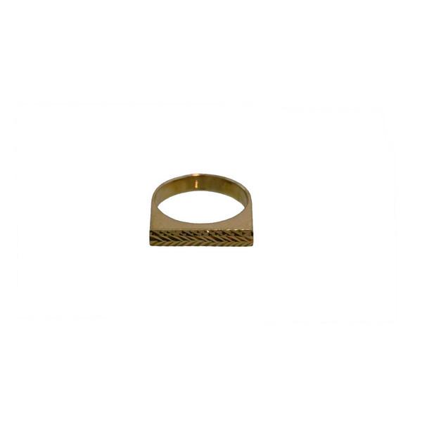 انگشتر طلا 18 عیار کانیار گالری مدل AG6