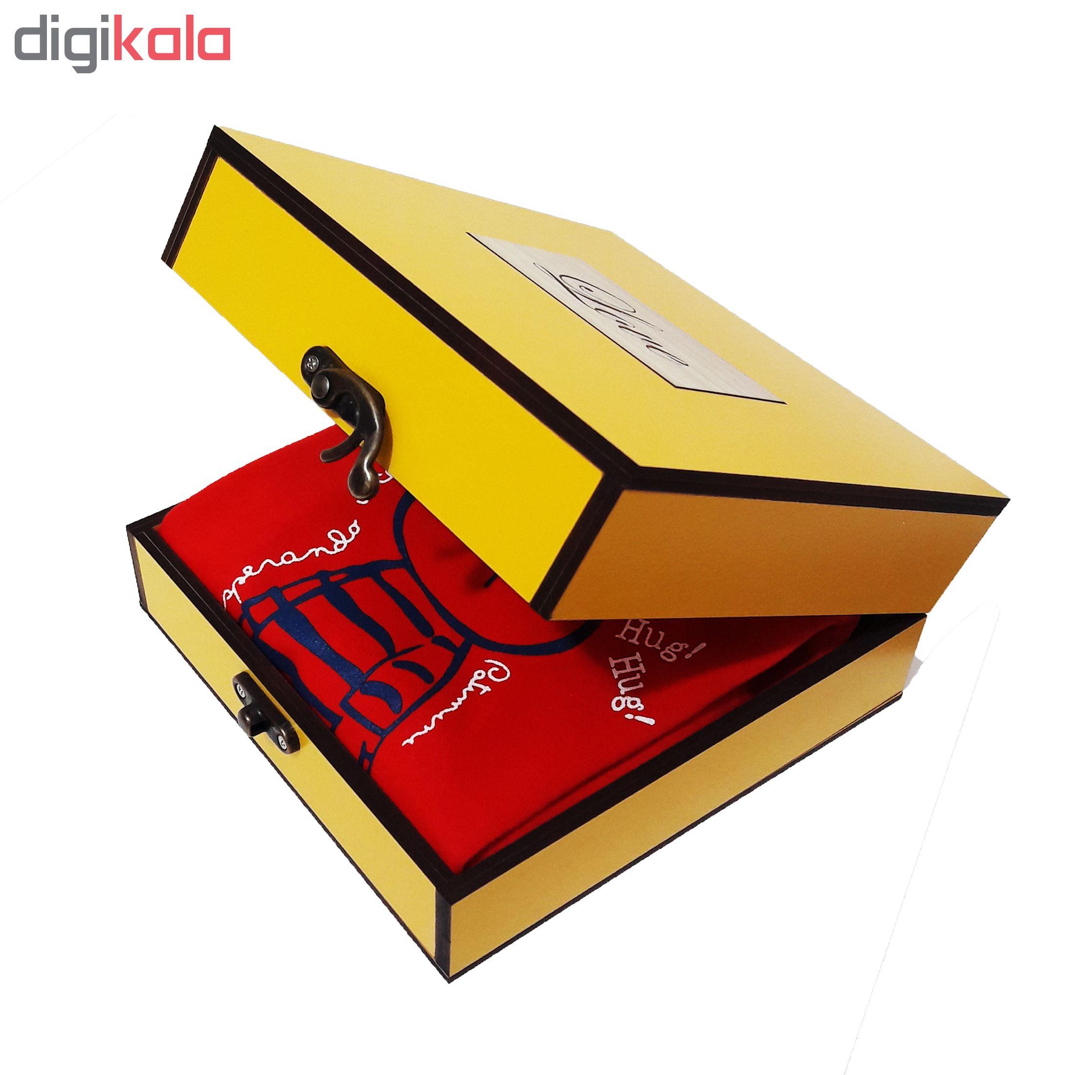 خرید                      جعبه هدیه چوبی کادویی مدل 37