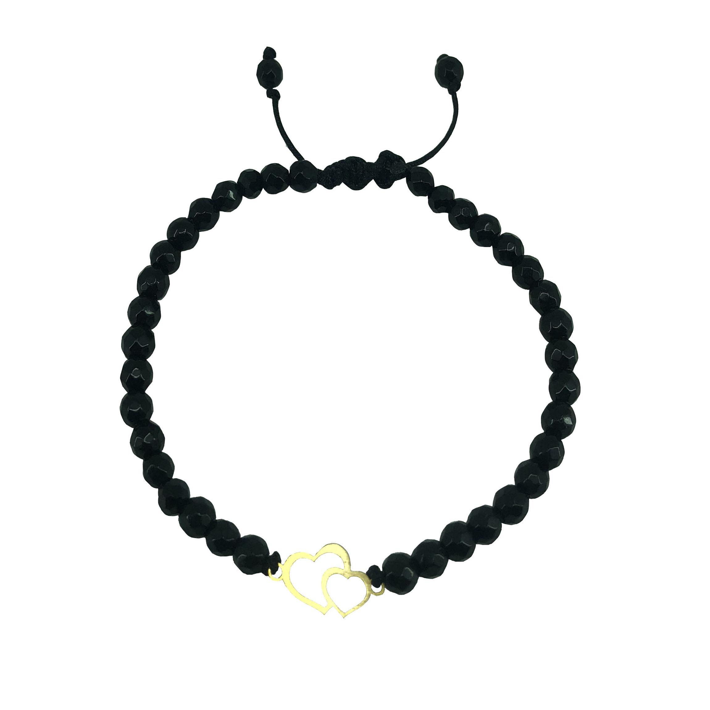 قیمت دستبند طلا 18 عیار زنانه طرح قلب مدل G3210