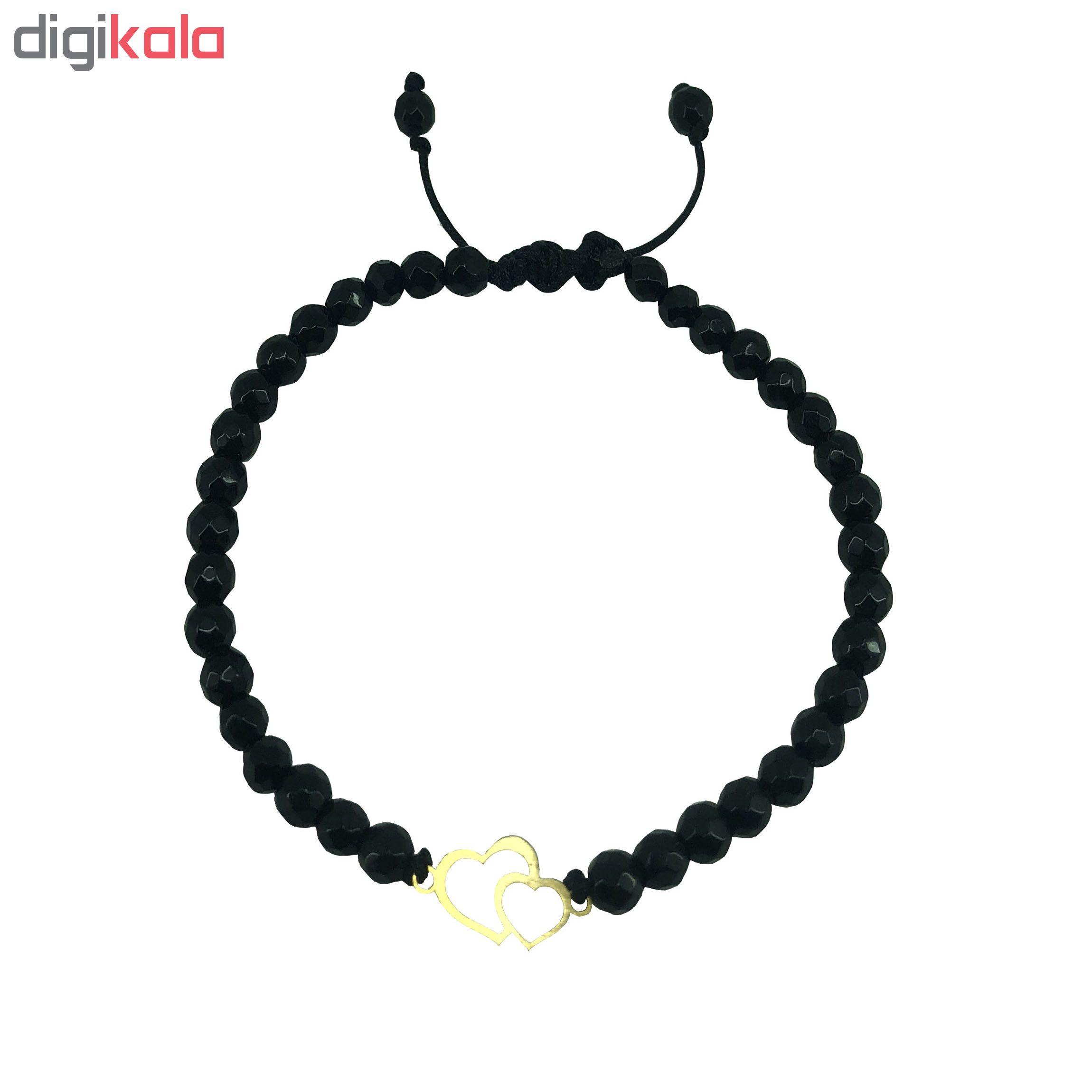 دستبند طلا 18 عیار زنانه طرح قلب مدل G3210