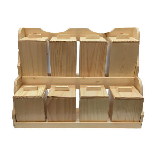 ست جای ادویه 8 پارچه چوبی آرونی مدل LIGHT ERYKA