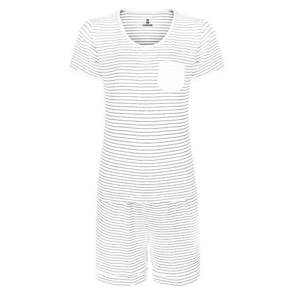 ست تی شرت و شلوارک زنانه ساروک کد 23 رنگ سفید