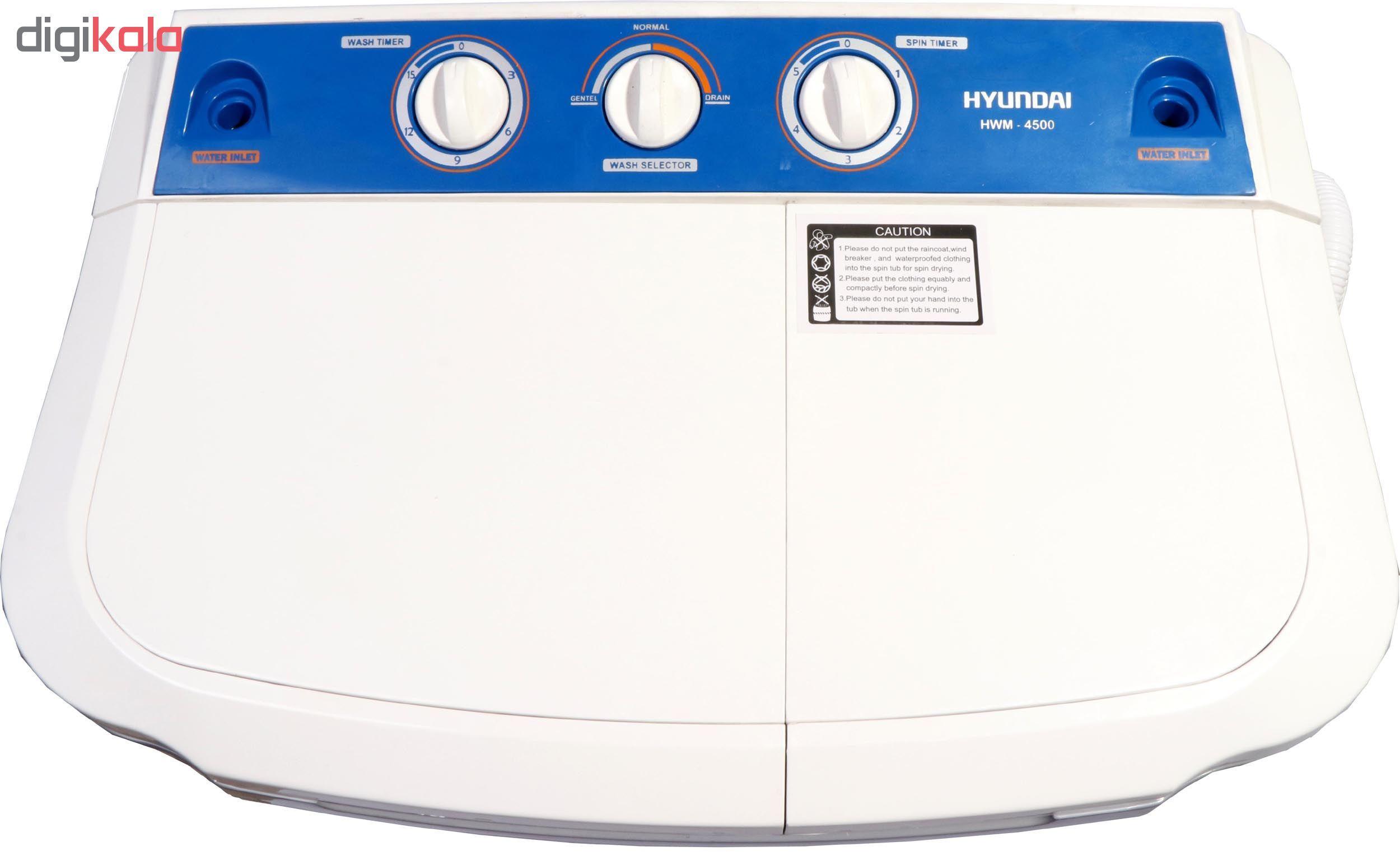 ماشین لباسشویی هیوندای مدل HWM-4500 ظرفیت 4.5 کیلوگرم main 1 7
