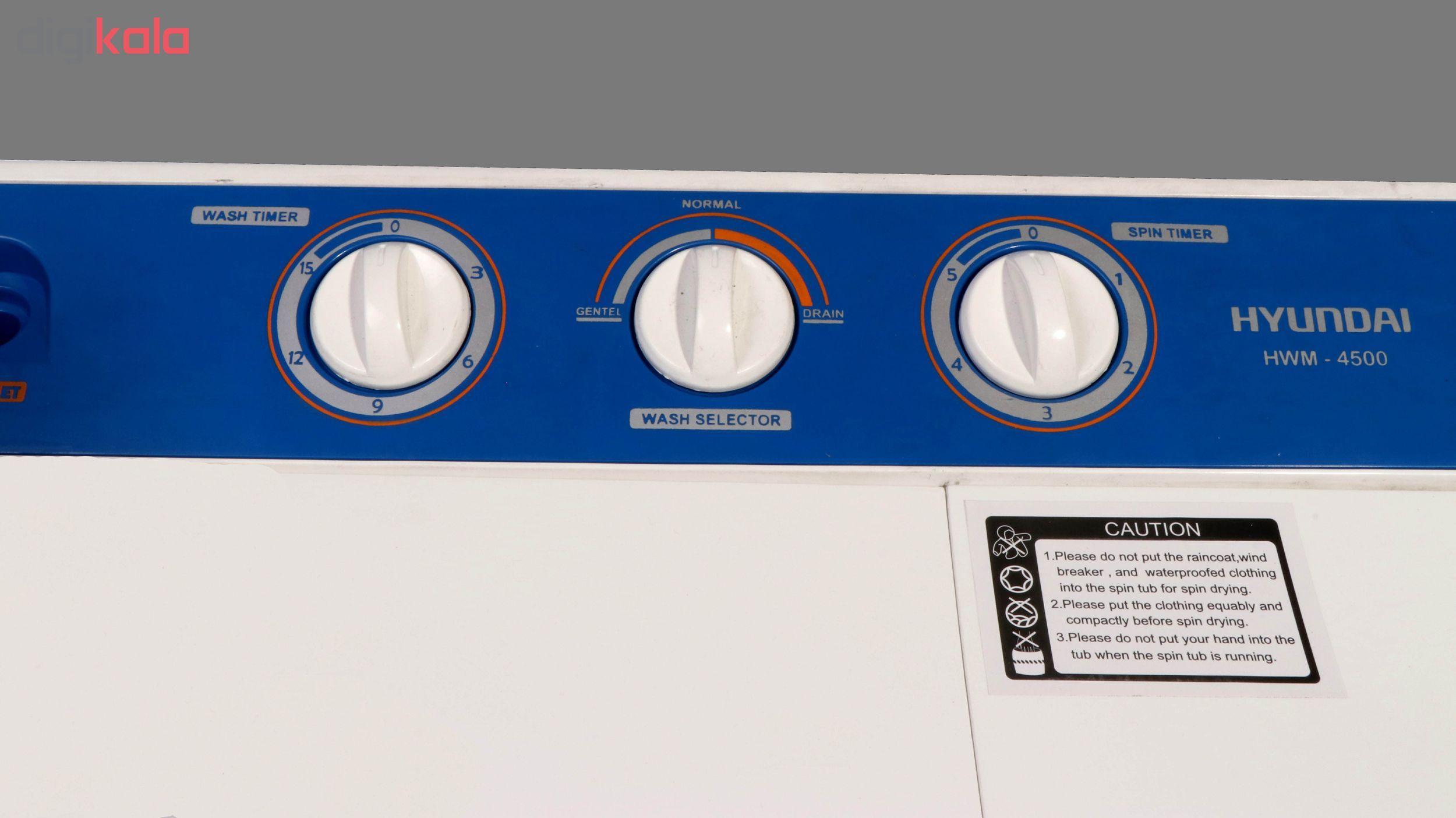 ماشین لباسشویی هیوندای مدل HWM-4500 ظرفیت 4.5 کیلوگرم main 1 10