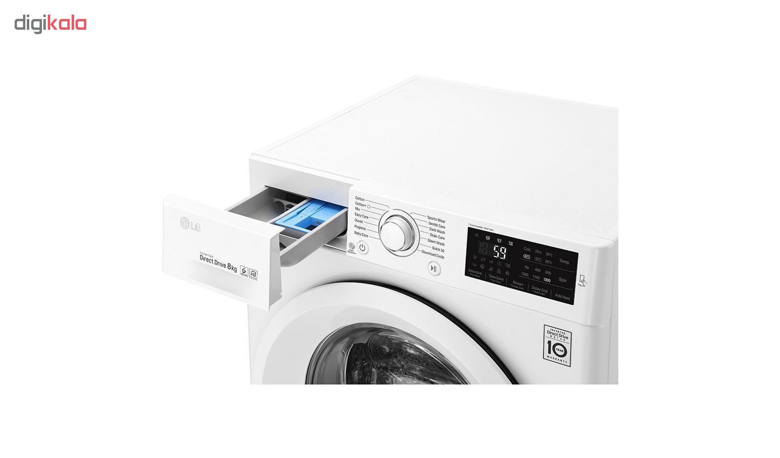 ماشین لباسشویی ال جی مدل WM-821NW ظرفیت 8 کیلوگرم main 1 6
