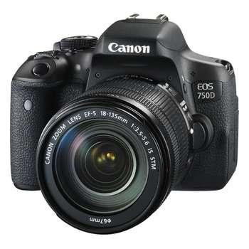 دوربین دیجیتال کانن مدل 750D  Rebel T6i   Kiss X8i به همراه لنز 18-135 میلی متر IS STM و  لوازم جانبی