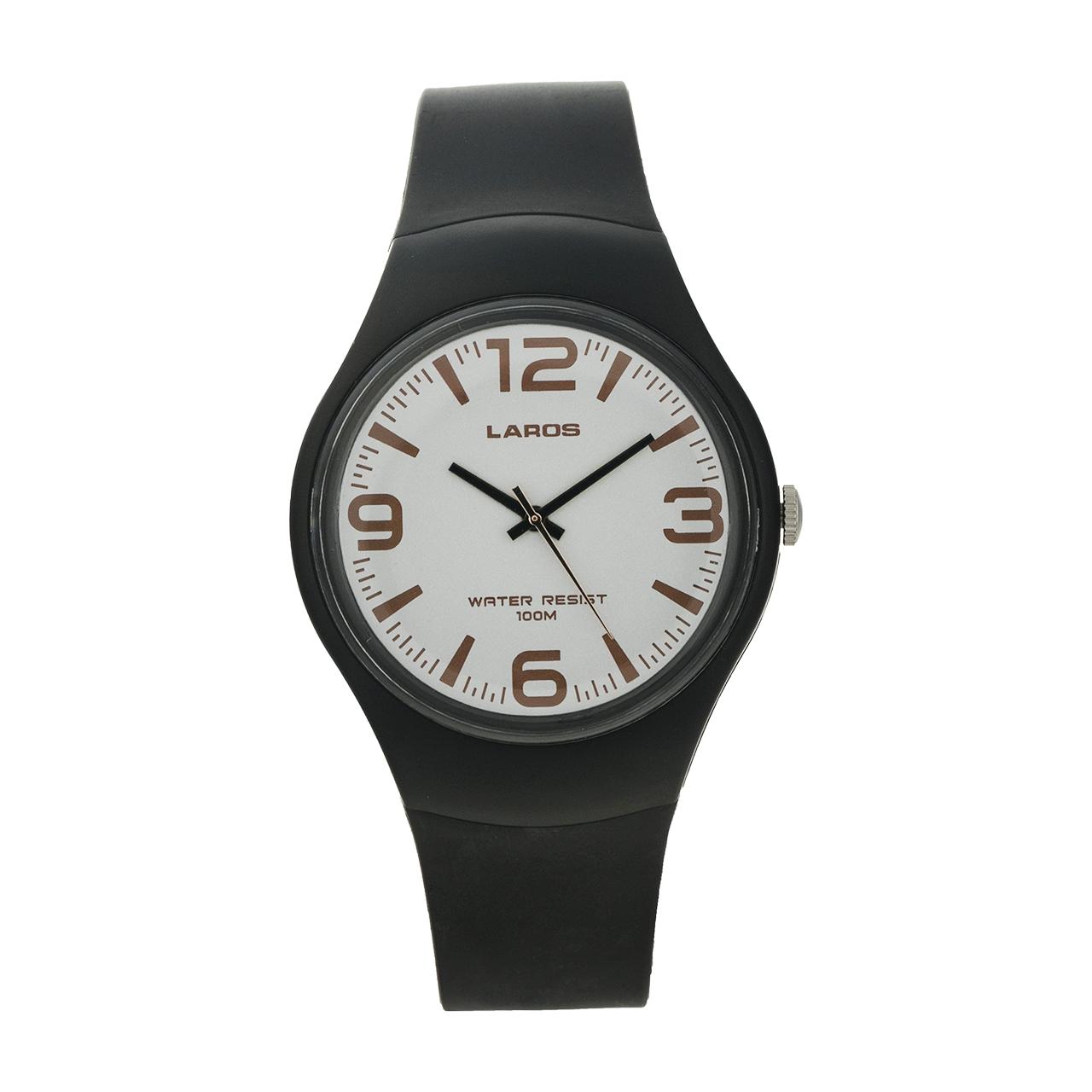 ساعت لاروس عقربه ای مردانه مدل AQ1066A-0AAX-D8