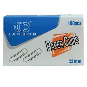 گیره کاغذ جانسون مدل 1283 بسته 100 عددی