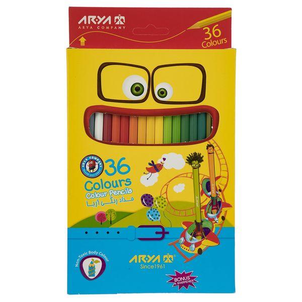 مداد رنگی 36 رنگ آریا مدل 3018