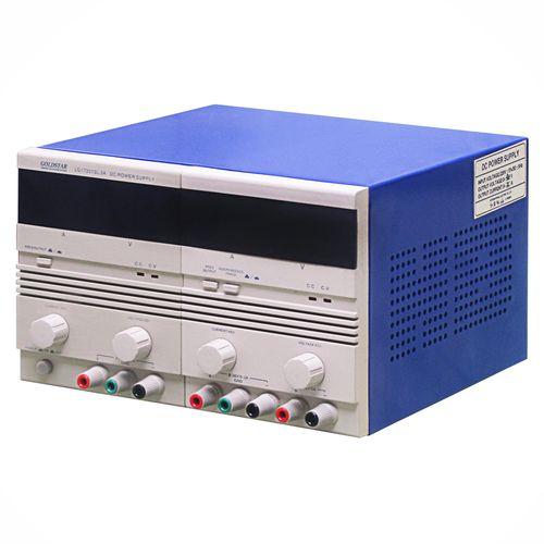 منبع تغذیه متغیر دوبل تراکینگ دیجیتال با جریان 3-0 آمپر و ولتاژ 30-0 ولت گلداستار مدل LG17301SL3A ( آداپتور Adaptor مبدل ولتاژ و جریان AC به DC ) دیجی کالا
