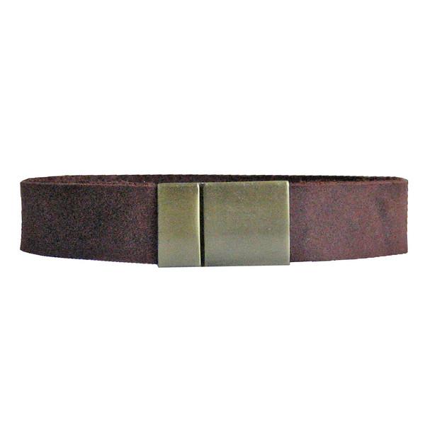 دستبند چرم  طبیعی دانوب مدل شباویز کد :016 سایز L