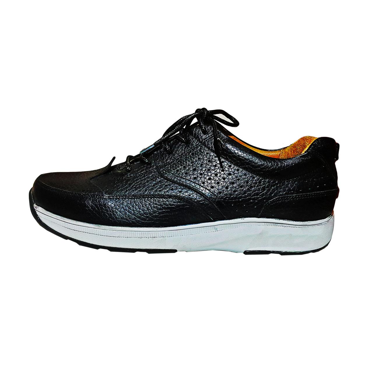 قیمت کفش کتانی چرم طبیعی مردانه کد 1107