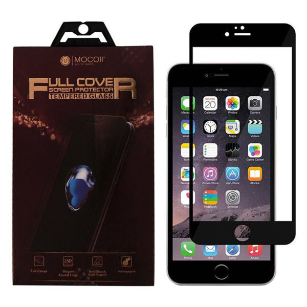 محافظ صفحه نمایش موکول مدل Full Cover مناسب برای گوشی موبایل اپل آیفون 7 پلاس / 8 پلاس
