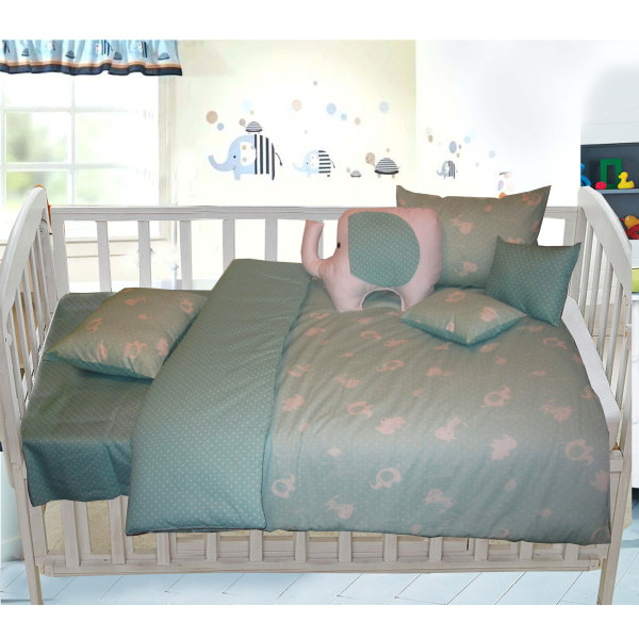 سرویس 8 تکه خواب کودک مدل Elephant