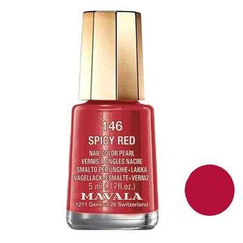 لاک ناخن ماوالا مدل Spicy red  شماره 146