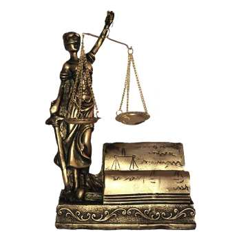 مجسمه طرح ترازوی عدالت
