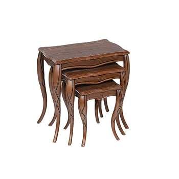 میز عسلی مدل classic n 019 مجموعه 3 عددی