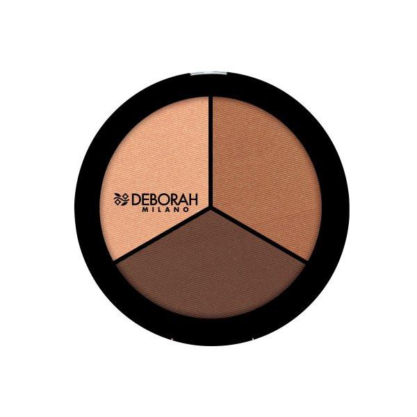 پالت کانتورینگ دبورا سری Trio مدل dark Rose Skin