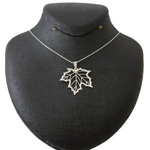 گردنبند نقره زنانه طرح برگ کد 001