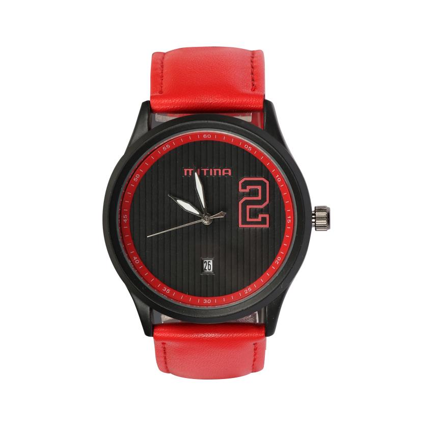 ساعت مچی عقربه ای مردانه می تینا مدل M-832 رنگ قرمز