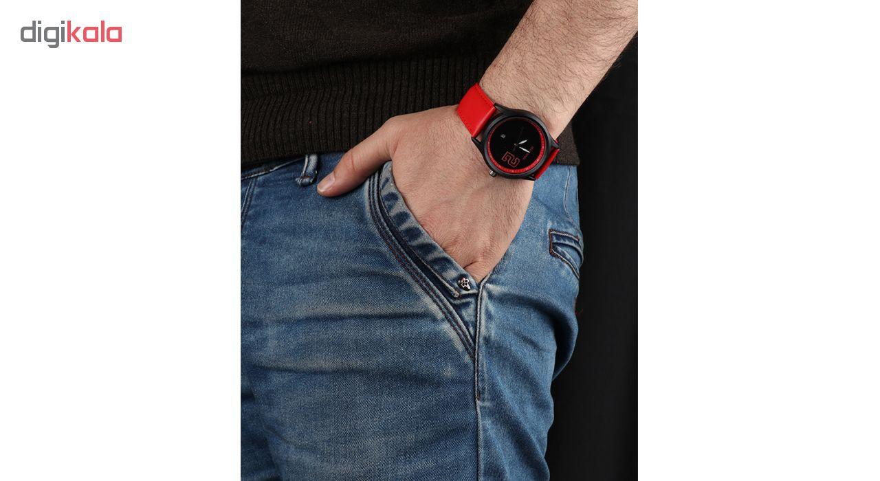 خرید ساعت مچی عقربه ای مردانه می تینا مدل M-832 رنگ قرمز
