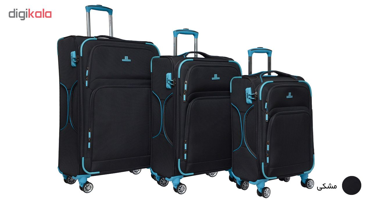 مجموعه سه عددی چمدان بلمونت مدل 3-4032