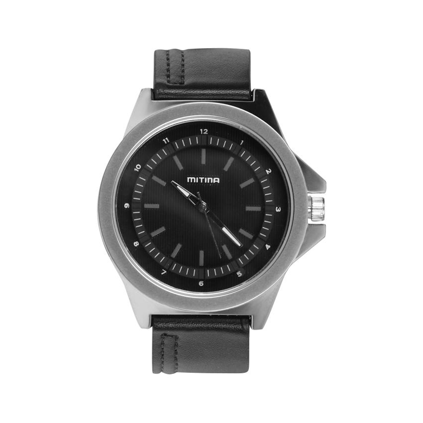 ساعت مچی عقربه ای مردانه می تینا مدل M-806 رنگ مشکی