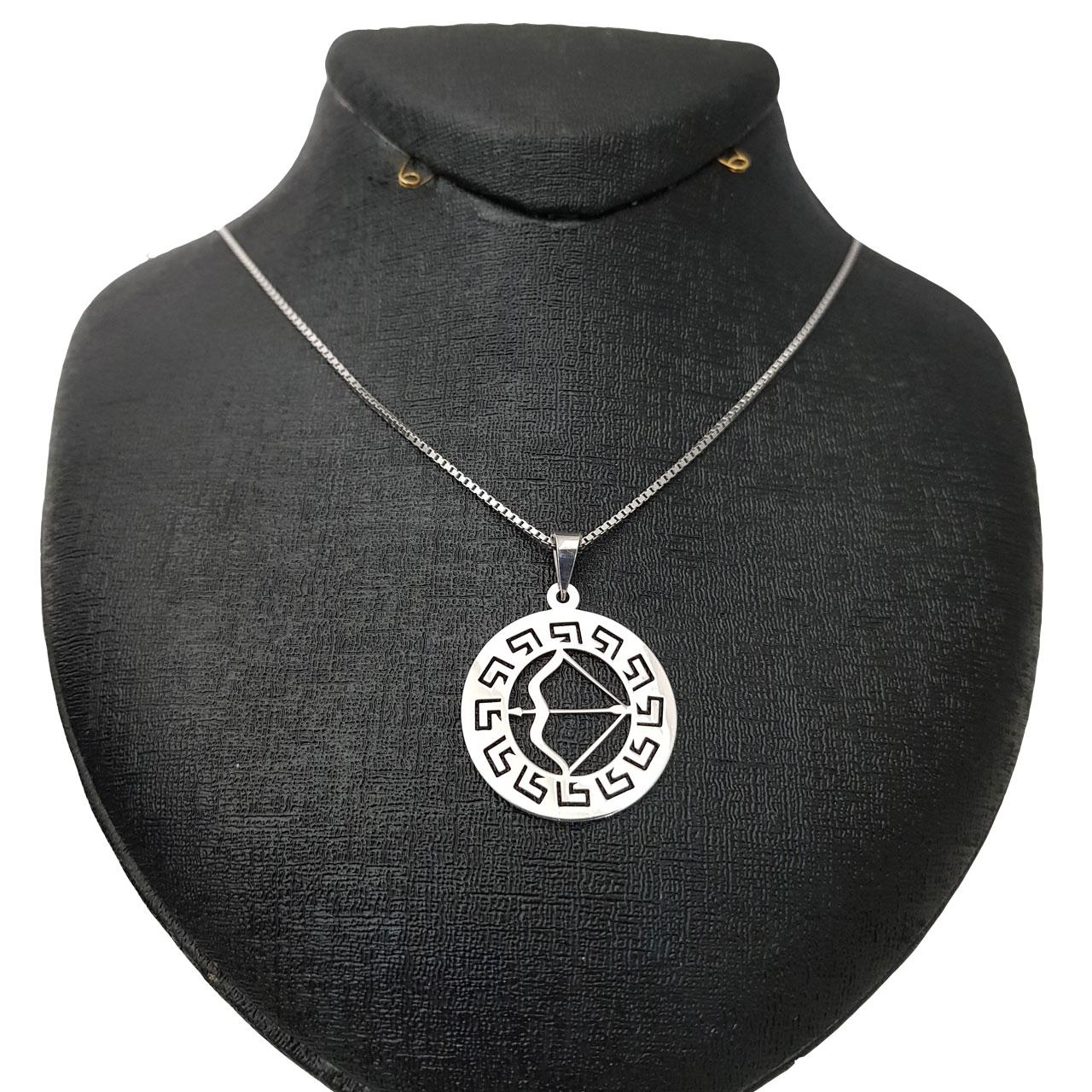 گردنبند نقره زنانه طرح ماه آذر کد 001