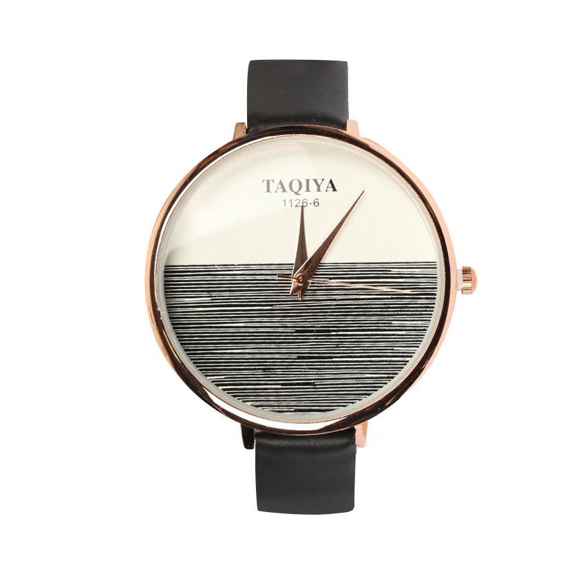 ساعت مچی عقربه ای زنانه تاکیا مدل 1126-6 رنگ سفید مشکی