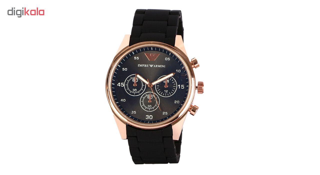 خرید ساعت مچی عقربه ای مردانه امپایر آرمانی کد Emp-Blk