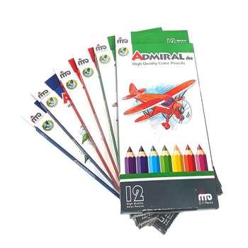 مداد رنگی 12 رنگ آدمیرال کد 761c بسته 6 عددی