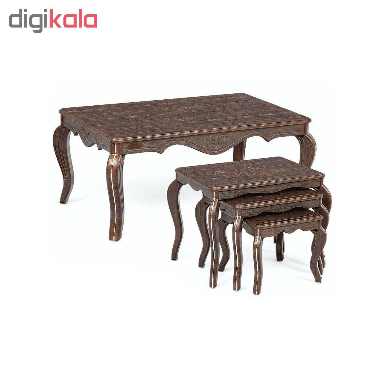 میز جلو مبلی  نگین مدل classic 010 به همراه میز عسلی مجموعه 4عددی  main 1 1