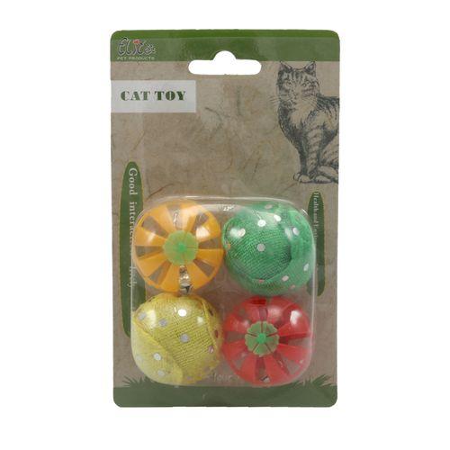 اسباب بازی گربه الیت مدل Fruit Balls مجموعه 4 عددی