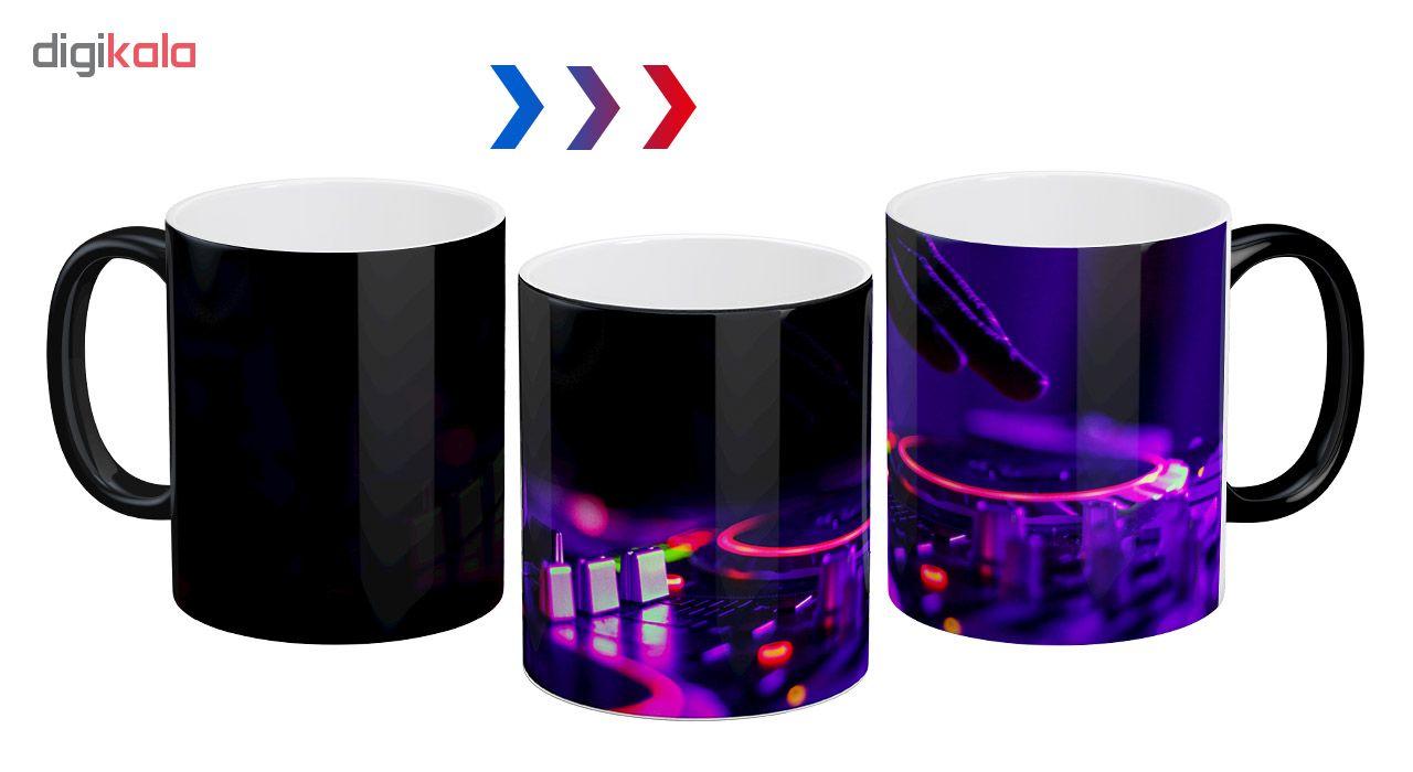 ماگ حرارتی آبنبات رنگی طرح دی جی Dj - کد ARM0197