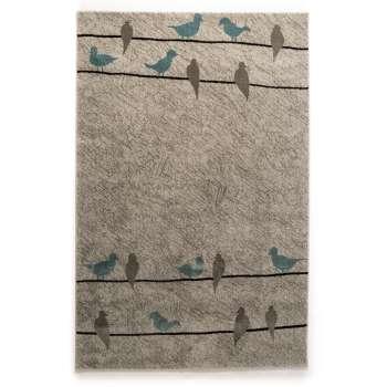 فرش ماشینی فرش ساوین طرح ۴۰۰۸ زمینه نقره ای روشن
