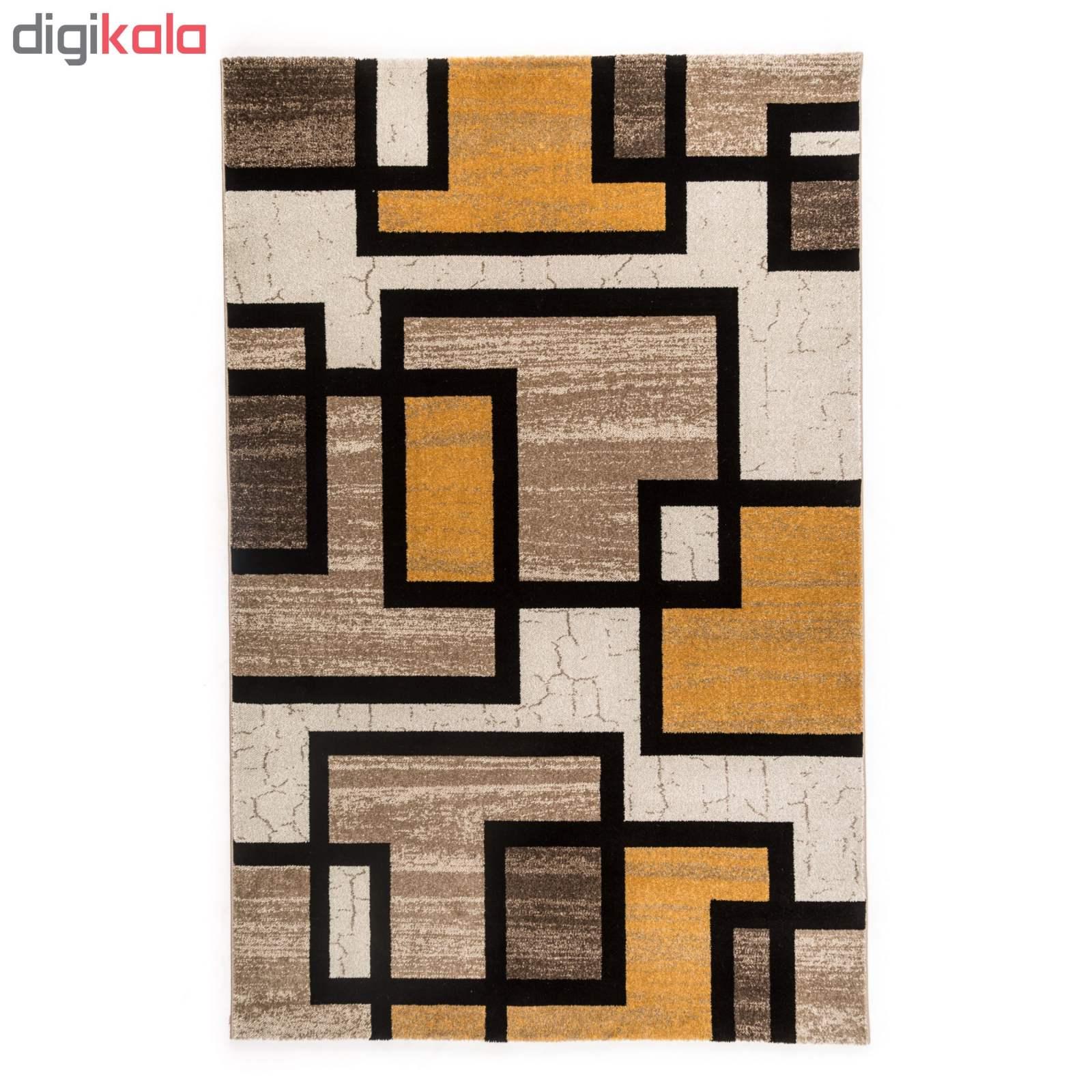 فرش ماشینی فرش ساوین طرح ۴۰۰۴ زمینه کرم main 1 1