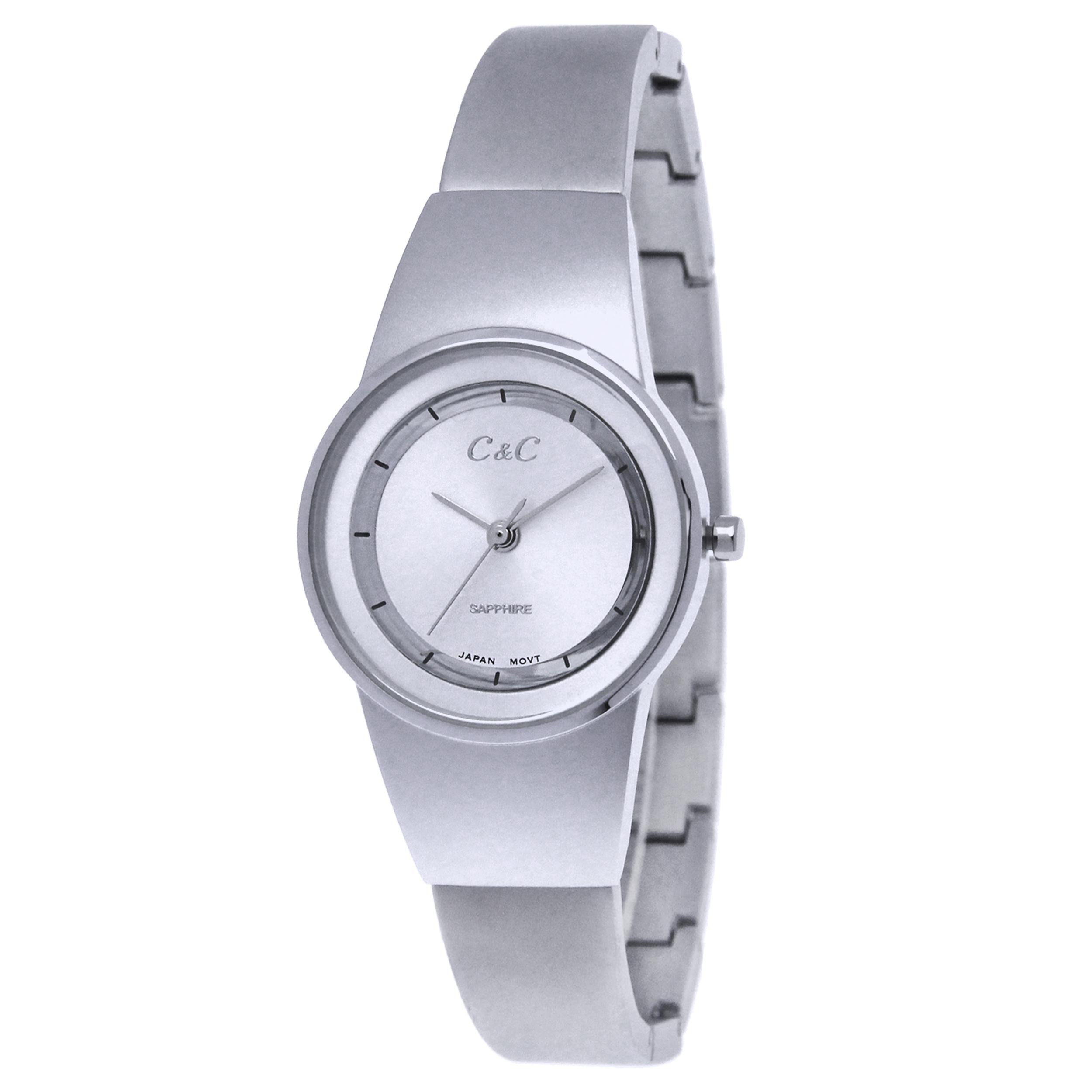 خرید ساعت مچی عقربه ای زنانه سی اند سی مدل SN-1255L-SS
