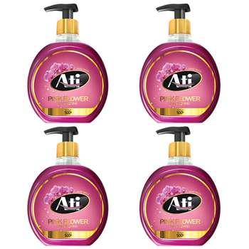 مایع دستشویی آتی مدل Pink Flower وزن 500 گرم بسته 4 عددی