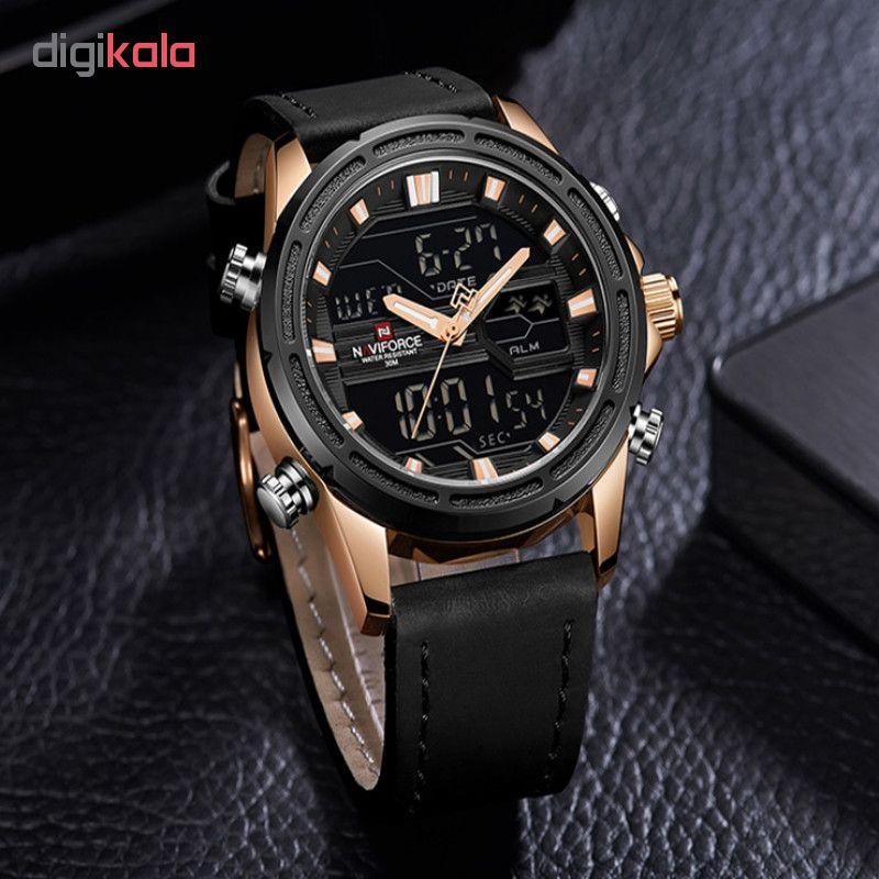 ساعت مچی عقربه ای مردانه نیوی فورس مدل NF9138M/MT             قیمت