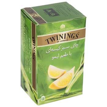 چای سبز کیسه ای توینینگز با طعم لیمو بسته 20 عددی